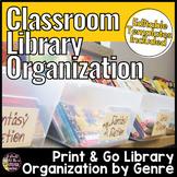 Classroom Library Labels Genre | Editable Book Bin Labels and Book Labels