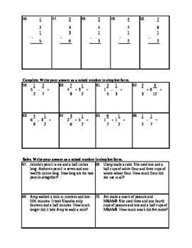 Everything you need to know about Fractions: Unit  Plan