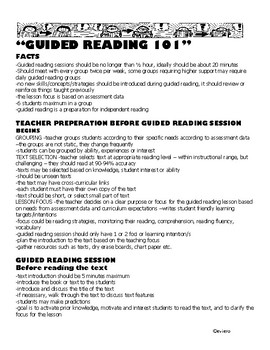 Everything you need to know to start guided reading