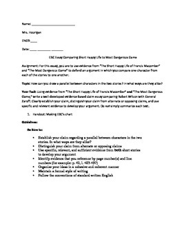 Evidence Based Claim Essay