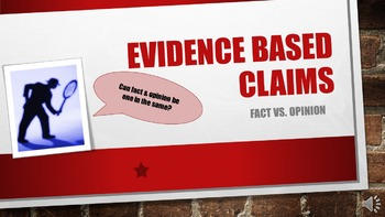 Evidence Based Claims--Social Studies