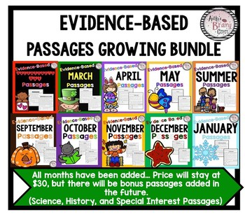 Evidence-Based Comprehension and Fluency Passages Growing Bundle