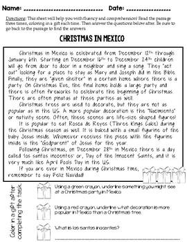 Evidence-Based Comprehension and Fluency Passages for December