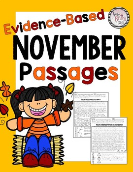 Evidence-Based Comprehension and Fluency Passages for November