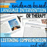 Language RTI & Therapy: Evidence Based Language Intervention