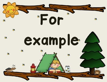 Evidence Based Phrases - Camping Theme