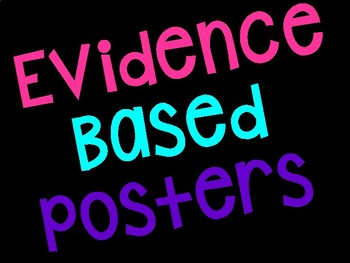 Evidence Based Posters - Neon and Black & White Version