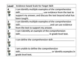 Evidence Based Scale for Comprehension