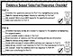 Evidence Based Selected Response Checklist
