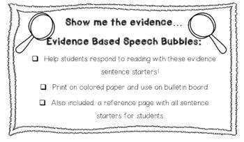 Evidence Based Speech Bubbles