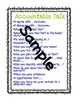 Evidence Based Terms & Accountable Talk posters