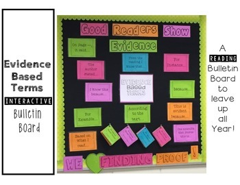 Evidence Based Terms {Bulletin Board} Showing Proof!