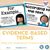 Evidence Based Terms Posters EDITABLE