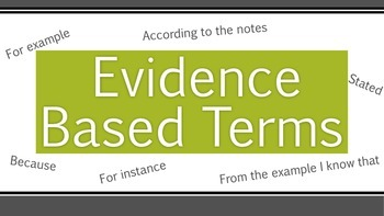 Evidence Based Terms (Math)