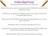 Evidence Based Terms Mini Lesson and Anchor Chart