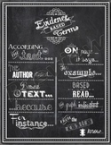Evidence Based Terms Poster