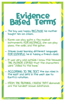 "Evidence Based Terms Poster (11"" x 17"")"