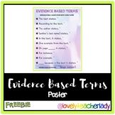 Evidence Based Terms Poster - FREEBIE!