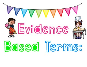 Evidence Based Terms Poster Set with student examples