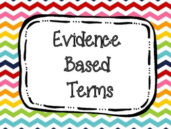 Evidence Based Terms Posters Primary Chevron