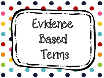 Evidence Based Terms Posters Primary Dots