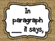 Evidence Based Terms Posters in Burlap, Black & White