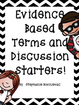 Evidence Based Terms and Discussion Sentence Stems