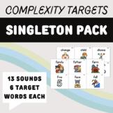Evidence-Based Treatment Words for Phonological Disorders: Singleton Bundle