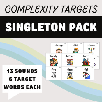 Evidence-Based Treatment Words for Phonological Disorders: Singleton Bundle