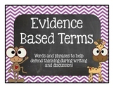 Evidence Based Words and Phrases Chevron & Zoo/Jungle Set Accountable Talk CCSS