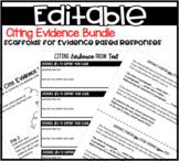 Evidence Based Writing Bundle (Editable)