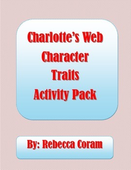 Evidence Based Writing Charlotte's Web Character Traits Pack