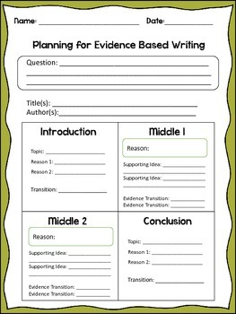Evidence Based Writing Plan
