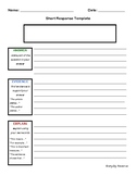 Evidence Based Writing Response Template