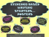 Evidence-Based Writing Starters Poster Set