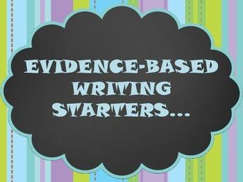 Evidence-Based Writing Starters Poster Set