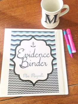 Nautical Waves Evidence Binder