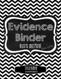 Evidence Binder Dividers, Inserts, Logs, and More - B&W