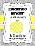 Evidence Binder Dividers, Inserts, Logs, and More - Yellow and Gray