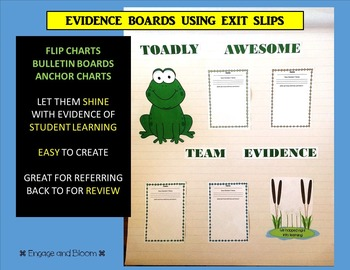 Evidence Boards using exit slips
