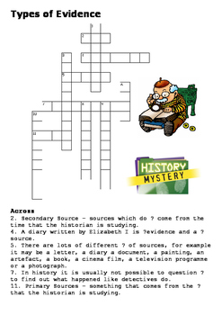 Evidence Crossword