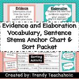 Evidence & Elaboration Anchor Chart & Sort Activity- R.A.C.E.