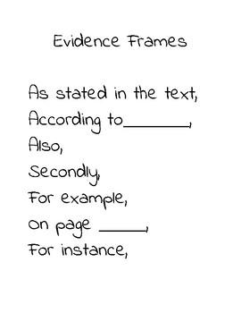 Evidence Frames