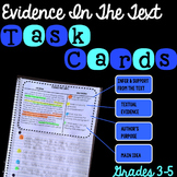 Evidence In The Text Task Cards Grades 3-5