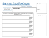 Evidence Graphic Organizers *FREE*