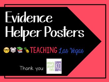 Evidence Helper Posters