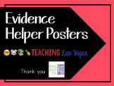 Evidence Helper Posters