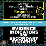 How to Cite Evidence with Evidence Indicators