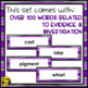Evidence & Investigation Word Wall Words- Editable