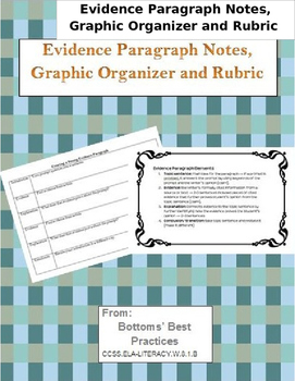 Evidence Paragraph Notes